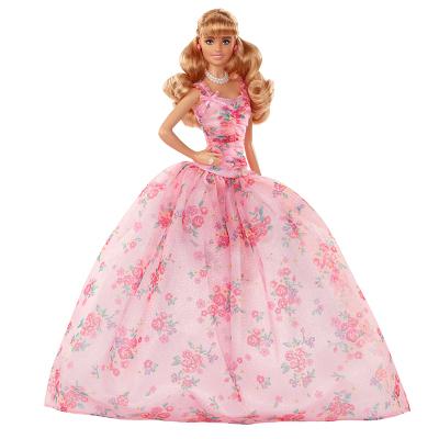 芭比之新生日祝福 送上對美好生活的期待女孩玩具動漫原型 芭比六十周年珍藏版- FXC76