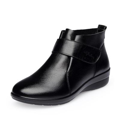 金猴(JINHO)春秋季休闲松糕鞋 魔术贴厚底小坡跟防水台女鞋 Q15005