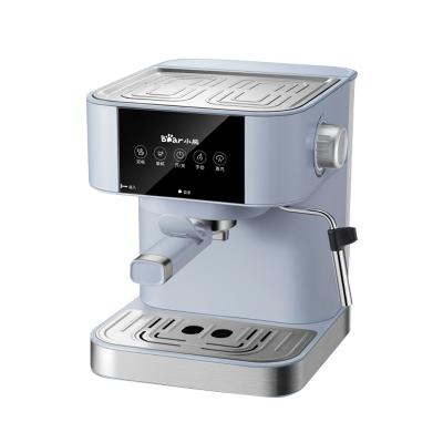 小熊咖啡机 KFJ-A15L1两种模式 蒸汽奶泡1.5L水箱 家用智能小型意式全半自动打奶泡一体蒸汽萃取煮咖啡壶