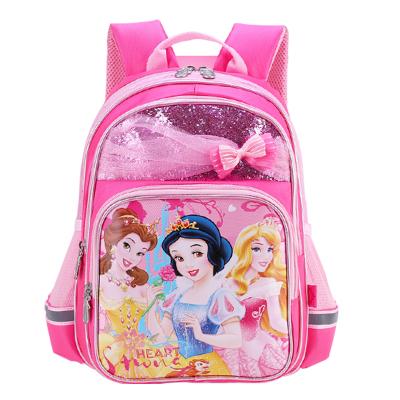 迪士尼(DISNEY)幼兒書包幼兒園一年級兒童減負護脊雙肩包6352粉色
