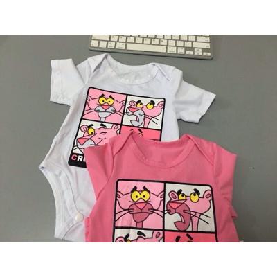 大碼母子裝嬰兒爬服連體衣子裝夏裝一家三口卡通短袖T恤