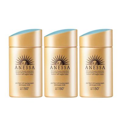 3瓶裝|Shiseido資生堂安耐曬金瓶防曬霜60ml 防水防汗 日本原裝進口