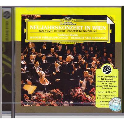 1987維也納新年音樂會 卡拉揚karajan 進口CD碟 古典音樂 4776336
