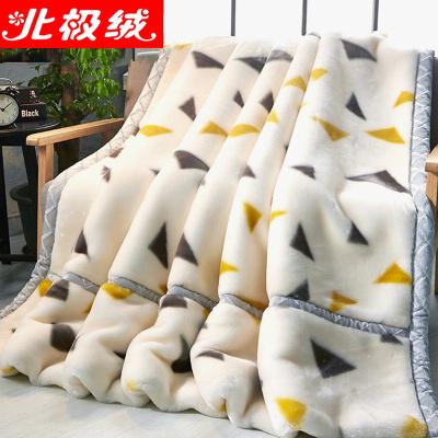 北極絨 雙層加厚毛毯拉舍爾毛毯被冬天加厚款蓋毯冬季婚慶超柔保暖單雙人絨毯子可選禮盒紙箱包裝