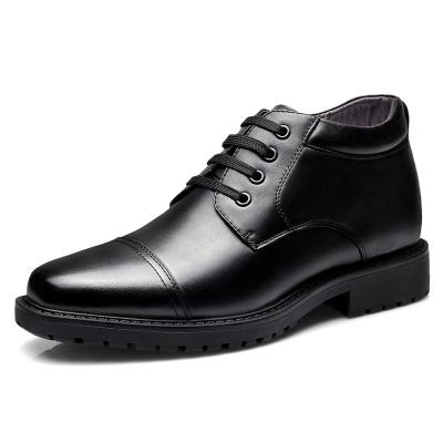 強人3515棉鞋男三接頭商務正裝鞋羊毛款保暖耐磨男士棉皮鞋休閑皮鞋 9S-07C