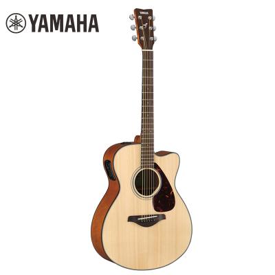 雅馬哈自營(YAMAHA)FSX800C電箱吉他 雅馬哈吉他初學入門jita樂器 木吉他缺角 40英寸