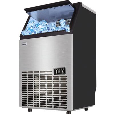 惠康(HICON)制冰機商用奶茶店大型方冰KTV家用冰塊制作機HZB-50A/55kg 36冰格-自動進水
