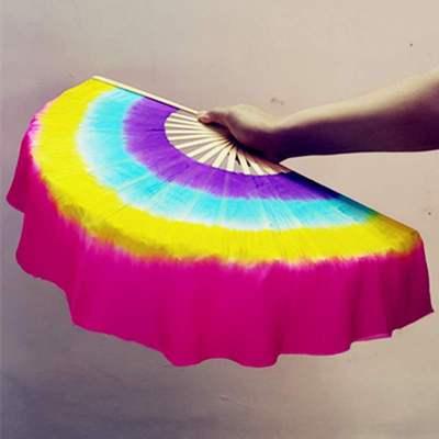 因樂思(YINLESI)真絲舞蹈扇子雙面跳舞扇膠州秧歌廣場舞扇舞蹈扇子兒童表演跳舞扇