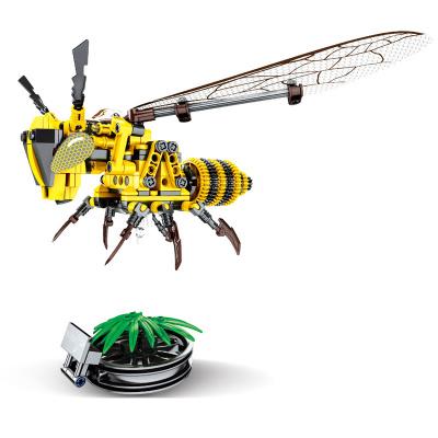 匯奇寶 森睿兼容樂高積木兒童拼裝昆蟲動物海洋玩具男孩子6-14歲塑料小顆粒女孩禮物 昆蟲系列-大黃蜂【236顆粒】
