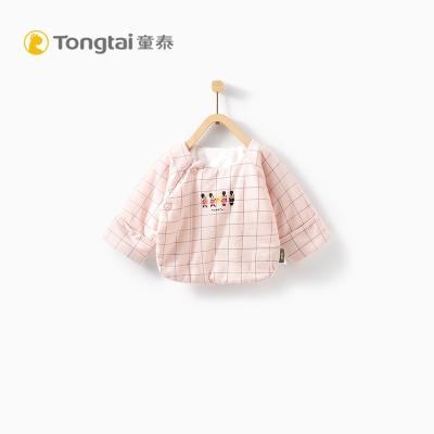 童泰TONGTAI秋冬初生儿半背棉衣0-3个月宝宝侧开棉上衣
