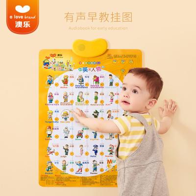澳樂 愛心有聲掛圖 0-3歲寶寶早教益智中英文字母 掛圖
