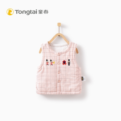 童泰TONGTAI婴儿秋冬棉马甲3-18个月宝宝对开加棉马甲坎肩