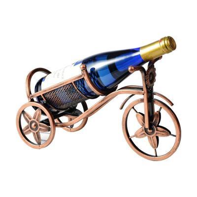 擺設鐵藝創意紅酒架擺件歐式酒瓶架復古葡萄酒架子家用酒架