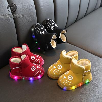 【品牌特卖】亮灯雪地靴宝宝鞋冬季新款1-3-5岁2男童鞋子儿童鞋女保暖小童棉鞋