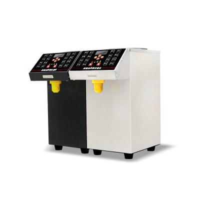 lecon/乐创洋博 果糖机商用奶茶店果汁店专用全自动果糖机 16格不锈钢机身果糖定量机