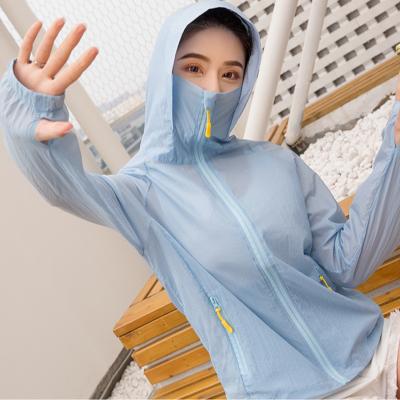 防熱衣女學生韓版2020夏季短款薄外套潮騎車長袖衫