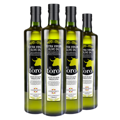 滔利ELTORO特级初榨橄榄油食用油西班牙原瓶进口750ML*4瓶