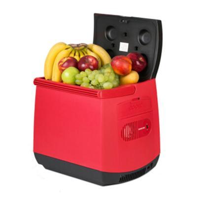 美固T25车载冰箱25L大容量冷暖两用 车载冷暖箱 恒温箱 红色标配