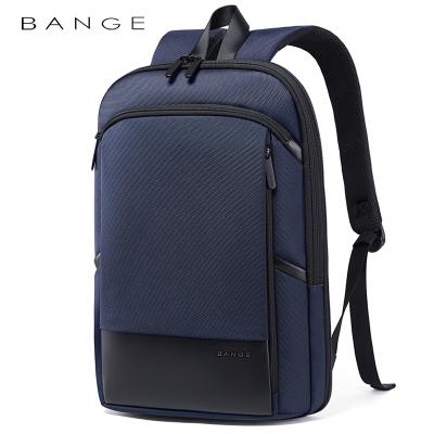班歌BANGE輕便雙肩包男電腦包男簡約可擴容商務背包男士休閑薄款時尚行李包電腦包14寸電腦包15.6寸藍色