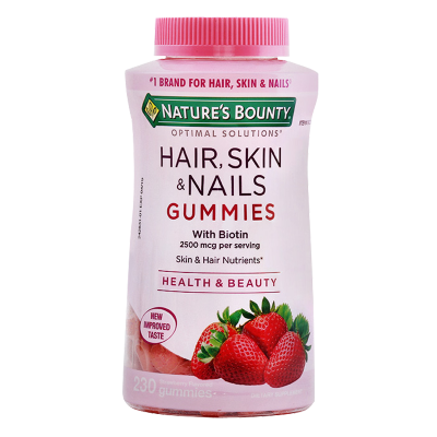 美國自然之寶(NATURE'S BOUNTY)膠原蛋白軟糖 護發護膚美甲 草莓味230粒