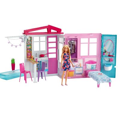 芭比之閃亮度假屋 Barbie House House W/ Doll 連續多年芭比明星單品動漫場景還原 - FXG55