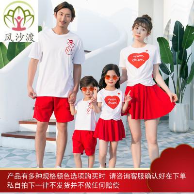 亲子装一家三口夏装不一样的时尚潮母子装母女装洋气图片件数为展示
