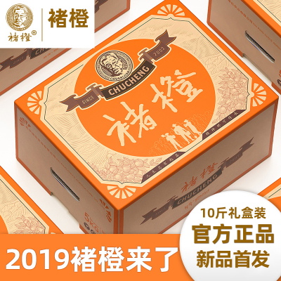 褚橙励志橙冰糖橙特级果XL号礼盒装5kg 新鲜橙子水果10斤