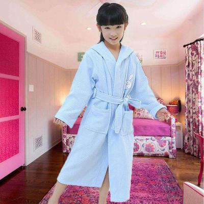 【精品好貨】兒童浴袍男女孩睡袍中大童春秋夏季帶帽洗澡寶寶速干浴衣吸水 邁詩蒙