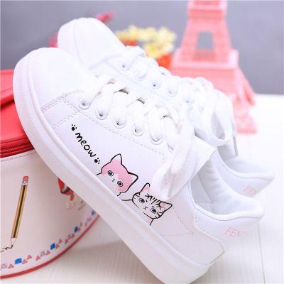 女童小白鞋新款大童休閑運動鞋中學生春秋款平底板鞋小學生鞋