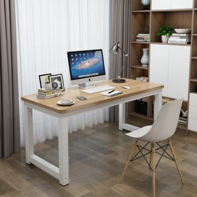 圓角電腦桌臺式家用學生學習卓寫字臺簡約書桌長方形臥室辦公桌子 弧威(HUWEI)