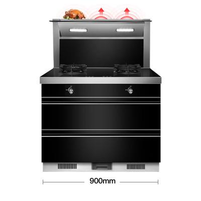 欧尼尔(OUNIER) LX6-D集成灶环保灶具侧吸一体式一体机 自动清洗抽油烟机灶具消毒柜集成灶18立方 天然气