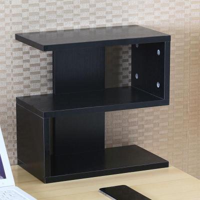 桌上CD架收納架置物架碟片架子電腦辦公小書架展示架美甲裝飾書房弧威(HUWEI)