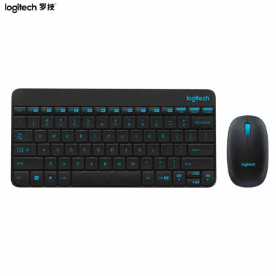 【羅技旗艦店】羅技(Logitech)無線鍵鼠套裝 MK245 Nano 無線鼠標無線鍵盤套裝(黑色)