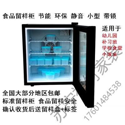 蘇寧嚴選 食品留樣柜食品留樣柜帶鎖幼兒園留樣柜小型透明展示柜小冰箱保鮮冷藏箱單哥本新款