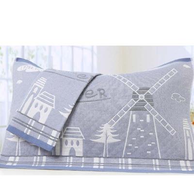 成人枕巾2条装 三层纱布四季枕头巾一对通用简约小清新枕巾家用床上用品枕巾