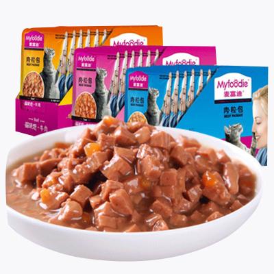 麥富迪貓咪戀金槍魚85g*12包貓咪零食增肥貓咪戀肉粒包小零食貓罐頭貓糧妙鮮貓濕糧12包