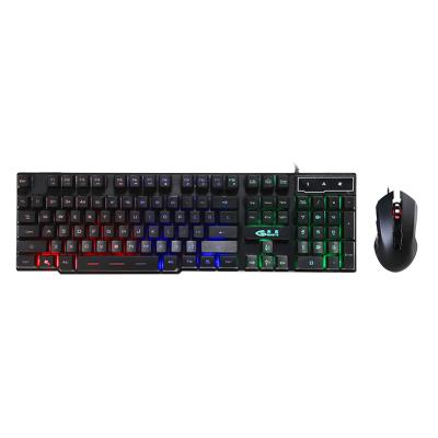 魔蝎手(mogegame) GX16有線游戲鍵鼠套裝 靜音版 機械手感 USB鍵盤鼠標 絕地求生吃雞鼠標鍵盤