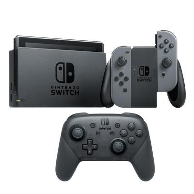 【手柄套餐】任天堂 Nintendo Switch 國行續航加強版灰色主機 & Pro專業無線藍牙手柄