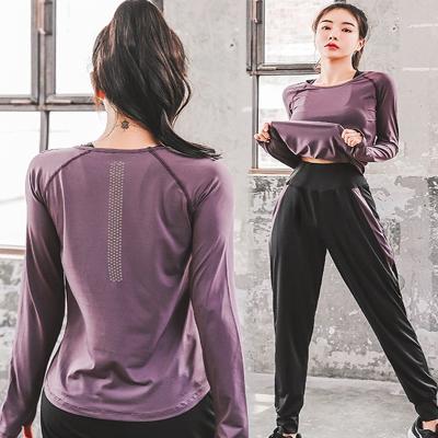 休閑運動瑜伽服套裝閃電客女健身房跑步健身服大碼速干寬松顯瘦彈力透氣
