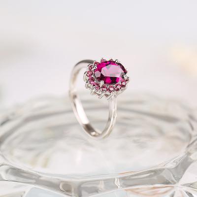 蒂美拉 R164天然巴西紫牙乌石榴石经典惊喜时尚女戒指送礼佳品