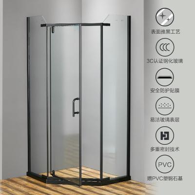 JOMOO九牧整體淋浴房鉆石型鋼化玻璃隔斷衛生間浴室干濕分離842