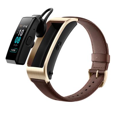 華為手環B5運動手環 智能手環(藍牙耳機+心率檢測+彩屏+觸控+壓力監測)商務版 摩卡棕