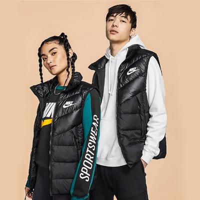 NIKE耐克男装2019新款保暖马甲立领羽绒背心运动外套夹克928860