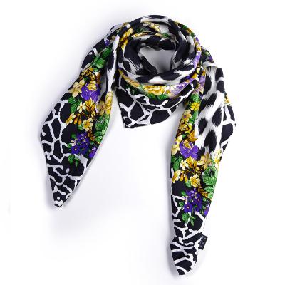 范思哲 (Versace)歐美時尚印花多功能四季通用款女士真絲絲巾圍巾
