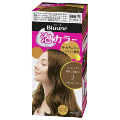Kao花王旗下 Blauné倍采盈 泡沫染發劑 2# 高亮棕 遮白發