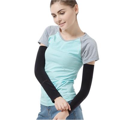 浪莎langsha男女士冰袖夏季薄長款冰絲戶外跑步騎行防曬袖套1付