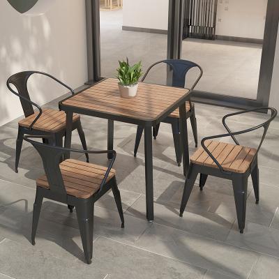 金沙公爵 陽臺戶外桌椅組合室外鐵藝小茶幾簡約休閑庭院露臺桌椅子三件套防雨淋