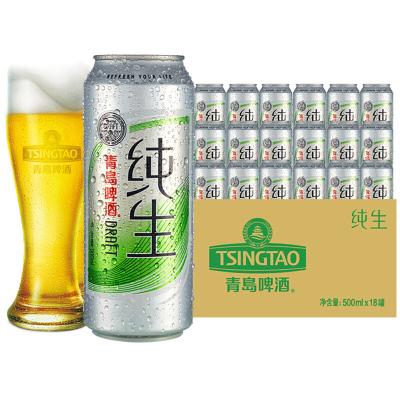 青島啤酒(TSINGTAO) 純生8度 500ml*18聽 官方直營