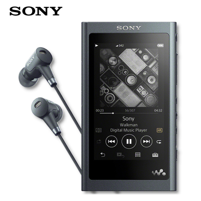 索尼(SONY) NW-A55HN MP3音樂播放器 高解析度無損隨身聽 A45/A45HN升級版新品 灰黑
