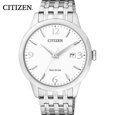 西铁城(CITIZEN)手表 时尚光动能不锈钢情侣表男表BM7300-50A